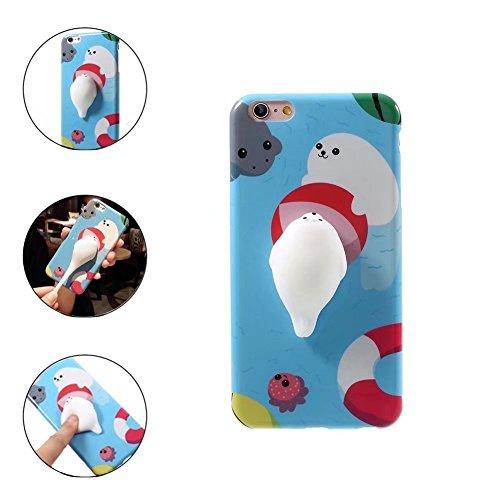 QKKE Fall für LG G5, 3D Poke Squishy Katze Dichtung Panda Eisbär Squeeze Stretch Komprimieren Stress reduzieren Relax Weich Silikon Relief Schutzhülle für LG G5 LG Stylo 3/Stylo 3 Plus Seal a