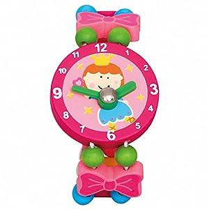 BINO Holzschmuck Mädchen Motiv Armbanduhr Fee Rosa