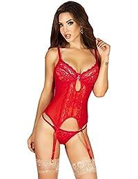 Guêpière Rouge + String CR-3641