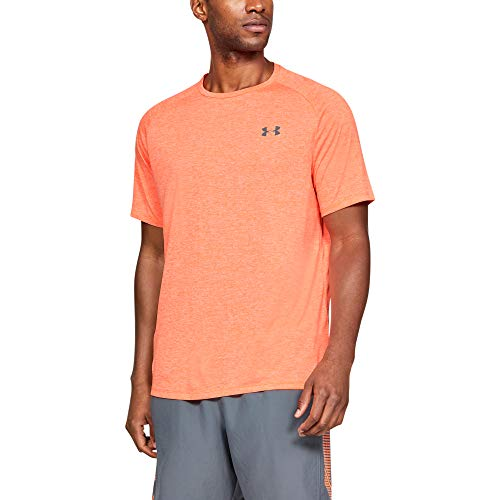 Under Armour Herren Tech 2.0 T-Shirt, Atmungsaktives Sporthemd, Orange, Medium -