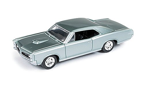 pontiac-gto-silber-grun-1966-modellauto-fertigmodell-auto-world-164