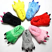 DarkCom Unisex Winter Warm Animal Feet Paw Slippers, Cartoon Claws Home Slippers Costume and Cosplay Monster Cosplay Plush Pajamas Party Shoes for Adult Men and Women