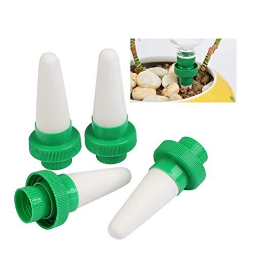 timesetl 4er automatico impianto di irrigazione cono di acqua cono testa di ceramica impianto versatore a goccia di irrigazione per giardino, pianta d'appartamento, fiori