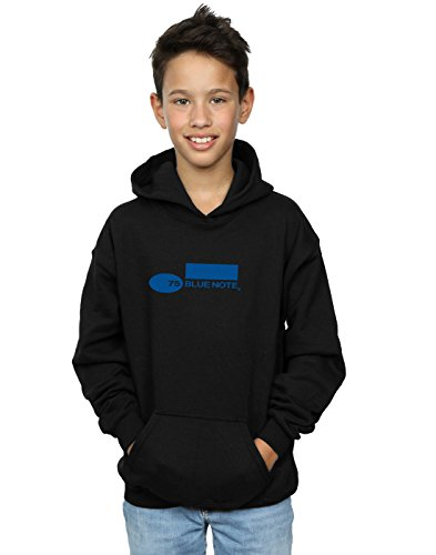 Blue Note Records Jungen Simple Logo Kapuzenpullover 7-8 Years Schwarz (Records Bluenote)