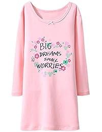 BLOMDE Camisón Floral para niñas Ropa de Dormir de algodón de Flores por 3-12 años