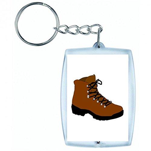 "Preisvergleich Produktbild Schlüsselanhänger ""WANDERSCHUH- SCHUHE- WINTER- ARBEIT- WANDERN- WANDERER- ABENTEUER- LEBENSSTIL- WANDERWEG- CAMPING"" in Weiss | Keyring - Taschenanhänger - Rucksackanhänger - Schlüsselring"