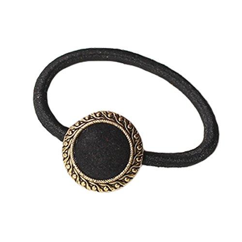 10PCS Vintage Style Cheveux Elastics Cravates Cheveux titulaires de-cheval, Noir