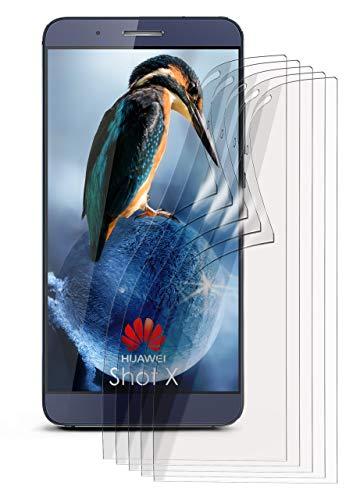 moex 5X Huawei ShotX | Schutzfolie Klar Bildschirm Schutz [Crystal-Clear] Screen Protector Display Handy-Folie Dünn Bildschirmschutz-Folie für Huawei ShotX/Honor 7i Bildschirmfolie
