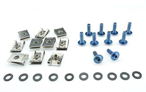 Tech-Parts-Koeln Motorrad Auto Roller Schrauben Verkleidung Klemmen M6x20mm Edelstahl V2A blau (Roller Klemmen Blau)