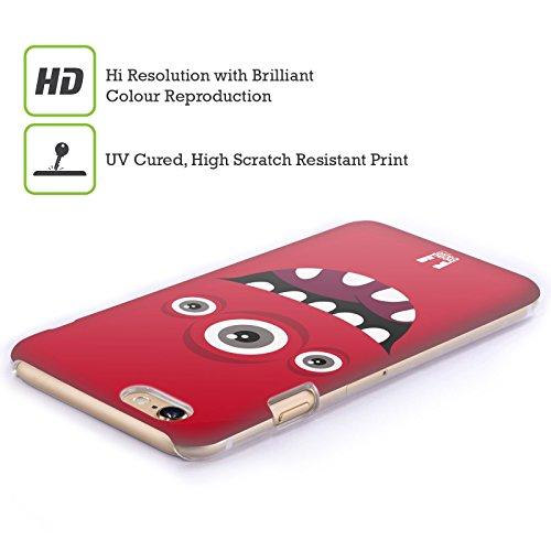 Head Case Designs Grün Fröhlich Monster Ruckseite Hülle für Apple iPhone 3G / 3GS Rot