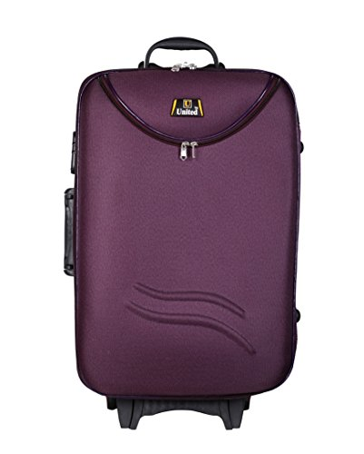 United Bag UTB037 HALF MOON Expandable Trolley Bag - Medium(Purple)  available at amazon for Rs.1925