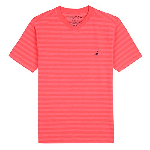 Nautica Boys' Short Sleeve Striped V-Neck T-Shirt - Striped V-neck-shirt
