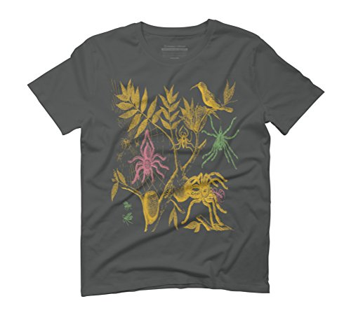 Spiders - Scientific Illustration Men's Graphic T-Shirt - Design By Humans Anthracite