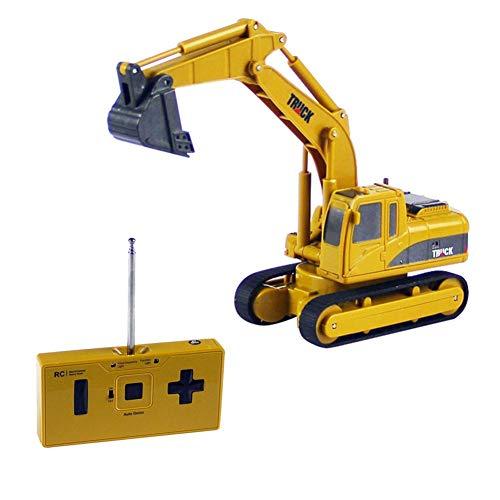 Cracklight Professioneller Bagger Batteriebetriebener, innovativer Mini-Fernbedienung BAU Traktor Simulierte Automodell Spielzeug