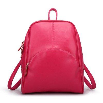 Mefly Borsa Scuola Borsa a Tracolla nuova edizione coreana studente di moda signora Claret Rose red