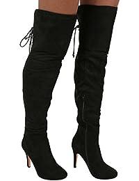 PILOT® faux suède sur le genou hautes bottes à talons