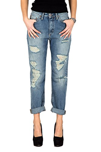 PLEASE - P05 pantaloni jeans da donna baggy con rotture l denim Kollection 2015 - Outlet