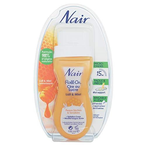 Nair - Cire Au Sucre Lait Et Miel Roll On Peaux Sensibles 100Ml - Lot De 3 - Livraison Rapide en...
