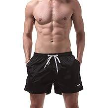 Pantalones para Hombre,Naturazy Corto De Tres Pantalones Deportivos Verano Ocasional Color SóLido Transpirable Pantalones