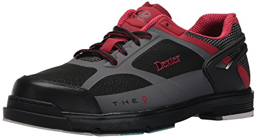 b773dce6db Dexter Men's The 9 HT Bowling Shoes, Black/Red/Grey, Size 10.0