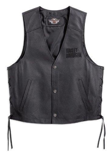 Harley-Davidson Tradition Leather Vest 98007-11VM Herren Outerwear, schwarz, XXL Herren Harley Davidson Leder Weste