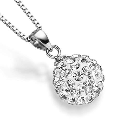 Sam Bellamy Premium Silber-Kette Damen mit Elegantem Perlen-Anhänger | Umfangreiches Geschenkset zur hochwertigen Halskette 45 cm 50 cm | Sterling Silber-Schmuck 925 Frauen (Kugel)