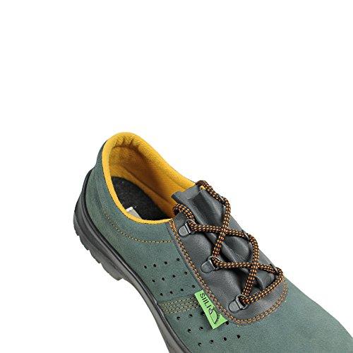Siili Safety S1P SRC Sicherheitsschuhe Arbeitsschuhe Berufsschuhe Businessschuhe Trekkingschuhe Grün Grün