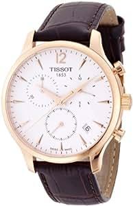 Tissot Homme Montre avec bracelet quartz chronographe cuir t063.617.36.037.00