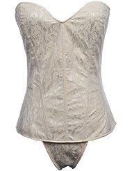 Topwedding dentelle tapisserie jusqu'à champagne mariée corset