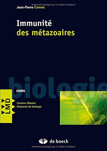Immunite des metazoaires aspects cellulaires, moleculaires, genetiques et evolutifs