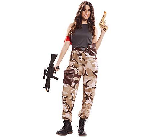 EUROCARNAVALES Disfraz de Soldado de Combate para Mujer