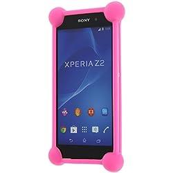 YEZZ ANDY 4EI2 LTE coque bumper antichoc en silicone rose de qualité by PH26®