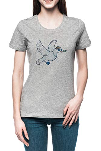 Das Hippie Taube Damen T-Shirt Tee Grau Women's Grey T-Shirt