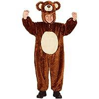 Widmann 98097–Disfraz para niños oso de peluche, Mono con capucha y máscara