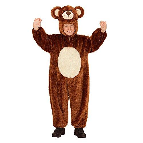 kostüm Bär aus Plüsch, Overall mit Kapuze und Maske (Bär Plüsch Maske)