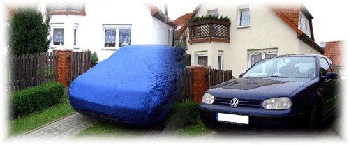 Autoabdeckung Car Cover Autogarage Faltgarage für Sommer & Winter zum Schutz gegen Vogeldreck, Baumharz, Staub