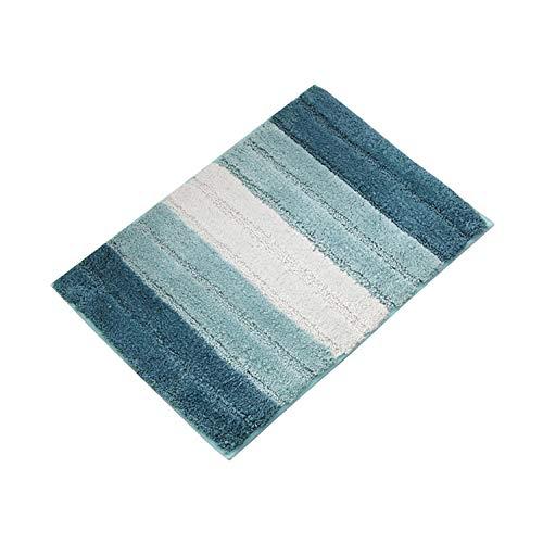 Shaggy Für Flur Gestreifte Fläche Für Schlafzimmer Teppich Anti Slip Für Küche Bad Bodenmatte Blau und Weiß,80x120cm (Haut-farbe-öl-pastell)