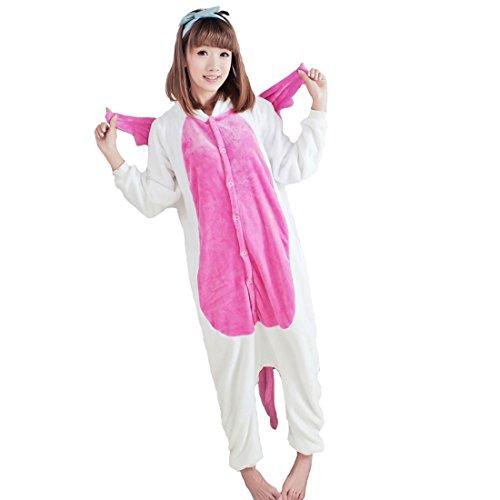 Moolee Animal style kigurumi Pyjama Adulte Anime pyjamas tenue Onesie Cospaly Fête Flannels costume(XL, pink unicorn)