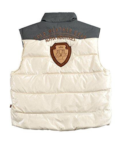 Alpha Industries Cold Gear Down Vest Veste Black white