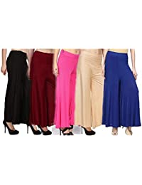 The Kite Sona Sales Palazzo Pant for Womens & Girls Combo Set of 5 || Free Size|| Multi||