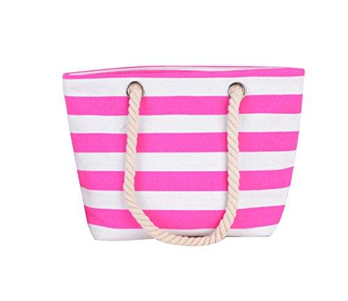 Delle Donne Della Tela Di Canapa Banda Viaggi Mini Casual Stampa Beach Packet Pink
