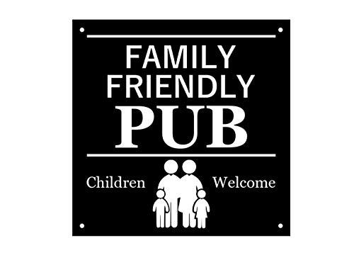 Señal Bienvenida niños Texto inglés Family Friendly