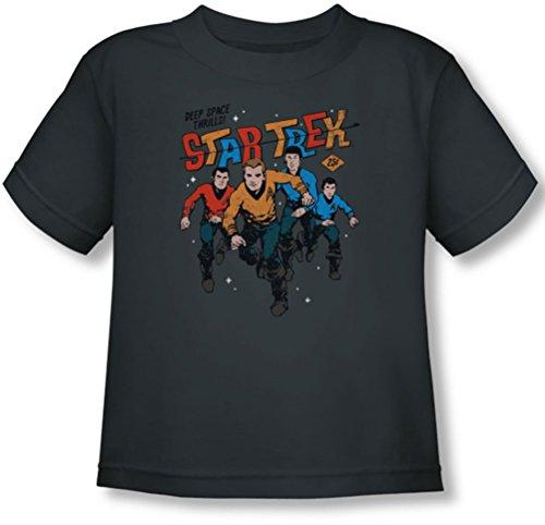 Star Trek - Kleinkind Deep Space Thrills T-Shirt, 3T, Charcoal