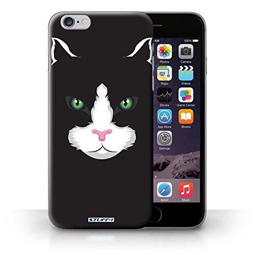 Kobalt® Imprimé Etui / Coque pour iPhone 6+/Plus 5.5 / Cheval conception / Série Museaux Chat noir