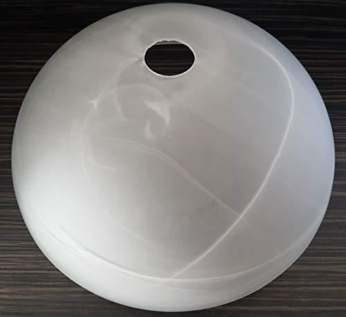 Glas Lampenschirme Stehlampen (Lampenschirm E27 35cm alabasterfarbig, Ersatzglas, Pendelleuchte, Ersatzschirm, Stehlampe, Lampenglas für Pendellampe, Tischlampe, Fluter, Leuchte)