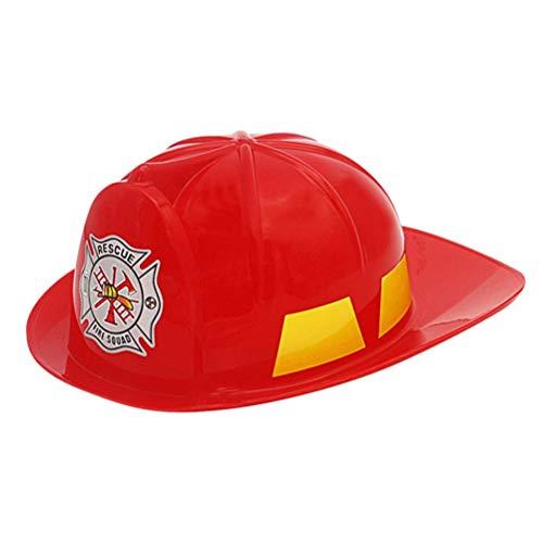 utzhelm Simulation Sicherheit Hüte Rollen Rollenspiel Hut Pädagogisches Spielzeug Bau Lustige Gadgets Halloween Party Hüte 2 STÜCKE (Rot) ()