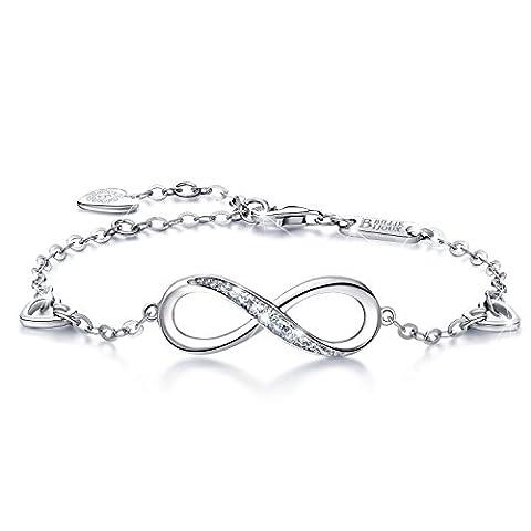 925 Argent fin Bracelet infini - Billie Bijoux damour sans