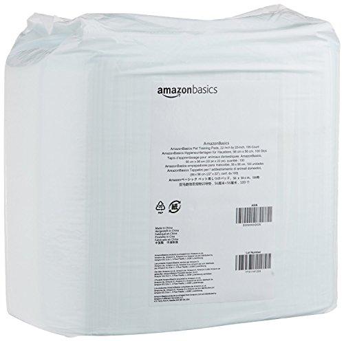 AmazonBasics Puppy Pads Trainingsunterlagen für Welpen, Standardgröße, 100 Stück - 9