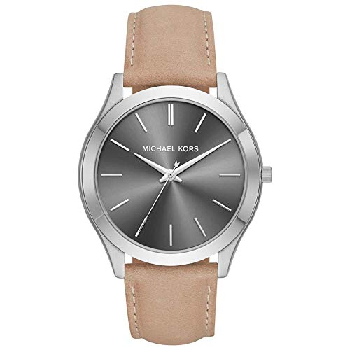 Michael Kors Mens Analogue Quartz Watch with Leather Strap MK8619