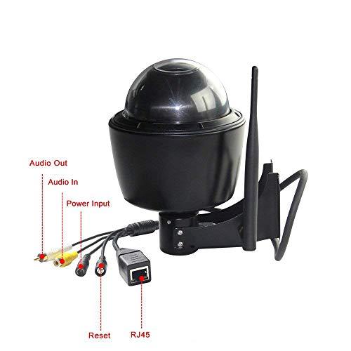 ZILNK Outdoor Wireless Überwachungskamera, 960P IP PTZ Kamera Aussen, 5x Optischer Zoom, Autofokus, mit Audio und SD Kartenteckplatz, IP65 Wasserfest, Bewegungserkennung,IR Nachtsicht